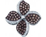 Diamond Flower Pendant 10K White Gold 1.06 cts. GD-72325