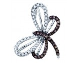 Diamond Butterfly Pendant 10K White Gold 0.28 cts. GD-72383