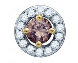Diamond Circle Pendant 10K Yellow Gold 0.49 cts. GD-73044