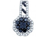 Black Diamond Fashion Pendant 10K White Gold 1.17 cts. GD-74912