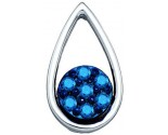 Blue Diamond Fashion Pendant 10K White Gold 0.27 cts. GD-75041