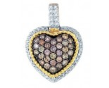 Champagne Diamond Heart Pendant 10K Yellow Gold 0.74 cts. GD-81623