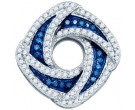 Blue Diamond Fashion Pendant 10K White Gold 0.55 cts. GD-81944
