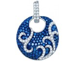 Blue Diamond Fashion Pendant 10K White Gold 0.55 cts. GD-81945