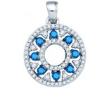 Blue Diamond Fashion Pendant 10K White Gold 0.50 cts. GD-81950
