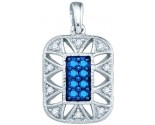 Blue Diamond Fashion Pendant 10K White Gold 0.25 cts. GD-81960