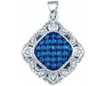 Blue Diamond Fashion Pendant 10K White Gold 0.25 cts. GD-82331