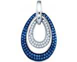 Blue Diamond Fashion Pendant 10K White Gold 1.11 cts. GD-83406