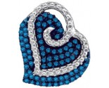 Blue Diamond Fashion Pendant 10K White Gold 0.22 cts. GD-87090
