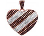 Red Diamond Heart Pendant 10K Rose Gold 0.31 cts. GD-88452
