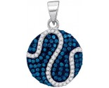Blue Diamond Fashion Pendant 10K White Gold 0.45 cts. GD-88642