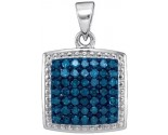 Blue Diamond Fashion Pendant 10K White Gold 0.50 cts. GD-88667