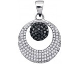 Black Diamond Pendant 10K White Gold 0.40 cts. GD-88769