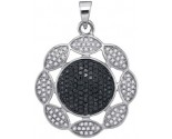 Black Diamond Pendant 10K White Gold 0.40 cts. GD-88801