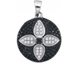 Black Diamond Pendant 10K White Gold 0.65 cts. GD-88832