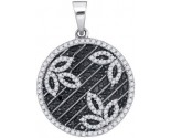 Black Diamond Pendant 10K White Gold 0.75 cts. GD-88836