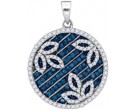 Blue Diamond Fashion Pendant 10K White Gold 0.75 cts. GD-88838