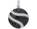 Black Diamond Pendant 10K White Gold 0.75 cts. GD-88865