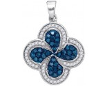 Blue Diamond Fashion Pendant 10K White Gold 0.50 cts. GD-88899