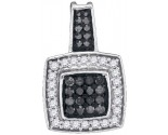 Black Diamond Pendant 10K White Gold 0.45 cts. GD-89008