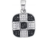 Black Diamond Pendant 10K White Gold 0.20 cts. GD-89072