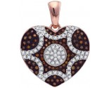 Red Diamond Heart Pendant 10K Rose Gold 0.33 cts. GD-89946