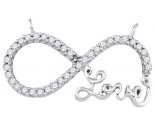 Diamond Infinity Love Pendant 10K White Gold 0.20 cts. GD-92248
