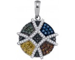 Mix Color Diamond Pendant 10K White Gold 0.50 cts. GD-92568