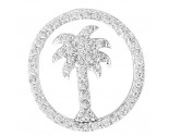 Diamond Palm Pendant 14K White Gold 0.33 cts. GS-21961