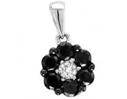 Diamond Cluster Fashion Pendant 14K White Gold 0.25 cts. GS-22648