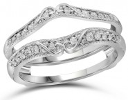 Diamond Ring Enhancer 14K White Gold 0.25 cts. GD-110628