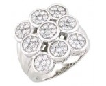 Diamond Cocktail Ring 14K White Gold 2.20 cts. A48-R0356