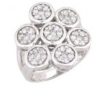 Diamond Cocktail Ring 14K White Gold 1.18 cts. A48-R0365