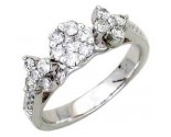 Ladies Diamond Ring 14K White Gold 0.55 cts. A56-R0466