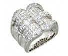 Diamond Cocktail Ring 14K White Gold 3.90 cts. A64-R0751