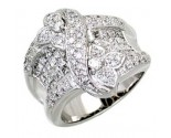 Diamond Cocktail Ring 14K White Gold 2.20 cts. A64-R0769