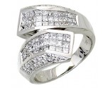 Diamond Cocktail Ring 14K White Gold 1.90 cts. A64-R0771
