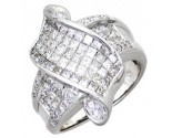 Diamond Cocktail Ring 14K White Gold 2.40 cts. A64-R0773