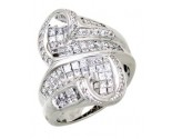 Diamond Cocktail Ring 14K White Gold 2.00 cts. A64-R0774