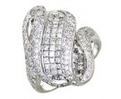 Diamond Cocktail Ring 14K White Gold 3.30 cts. A64-R0775