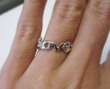 Ladies Diamond Love Fashion Ring 14K White Gold 0.03 cts. 6J7724