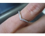Ladies Diamond Stackable Ring 14K White Gold 0.08 cts. 6J7725