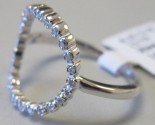 Ladies Diamond Open Circle Ring 14K White Gold 0.15 cts. 6J7746
