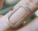 Diamond Open Rectangle Ring 14K Rose Gold 0.35 cts. 6J7942