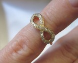 Ladies Diamond Infinity Ring 14K Yellow Gold 0.15 cts. 6J7994