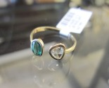 Emerald & Diamond Open Ring 14K Yellow Gold 0.67 cts. 6J7997