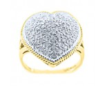 Ladies Diamond Heart Ring 14K Yellow Gold 0.50 cts. 6JTI582