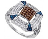 Ladies Diamond Fashion Ring 10K White Gold 0.70 cts. GD-87124