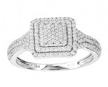 Ladies Diamond Fashion Ring 14K White Gold 0.40 cts. CL-14982