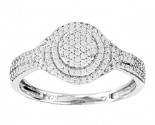 Ladies Diamond Fashion Ring 14K White Gold 0.32 cts. CL-15982
